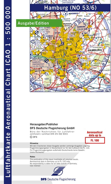 ICAO-Karte Hamburg 2021