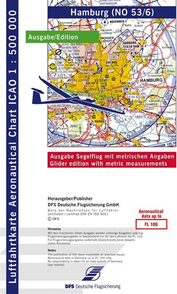 ICAO-Segelflugkarte Hamburg 2021 Lieferbar ab KW 13