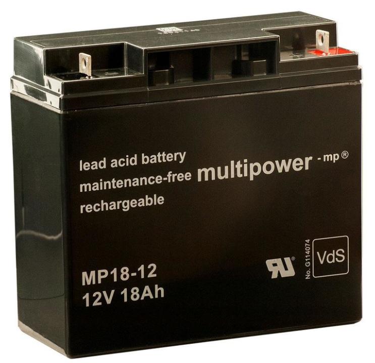 Duo Discus Motorbatterie MULTIPOWER MP18-12 12 V 18 Ah PB AGM Versorgungsbatterie