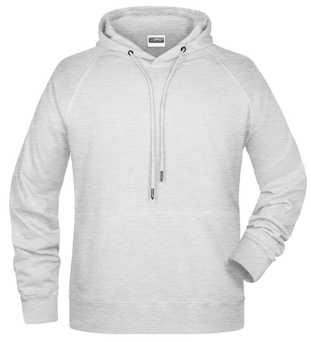 Männer Kapuzensweatshirt-Asche-L