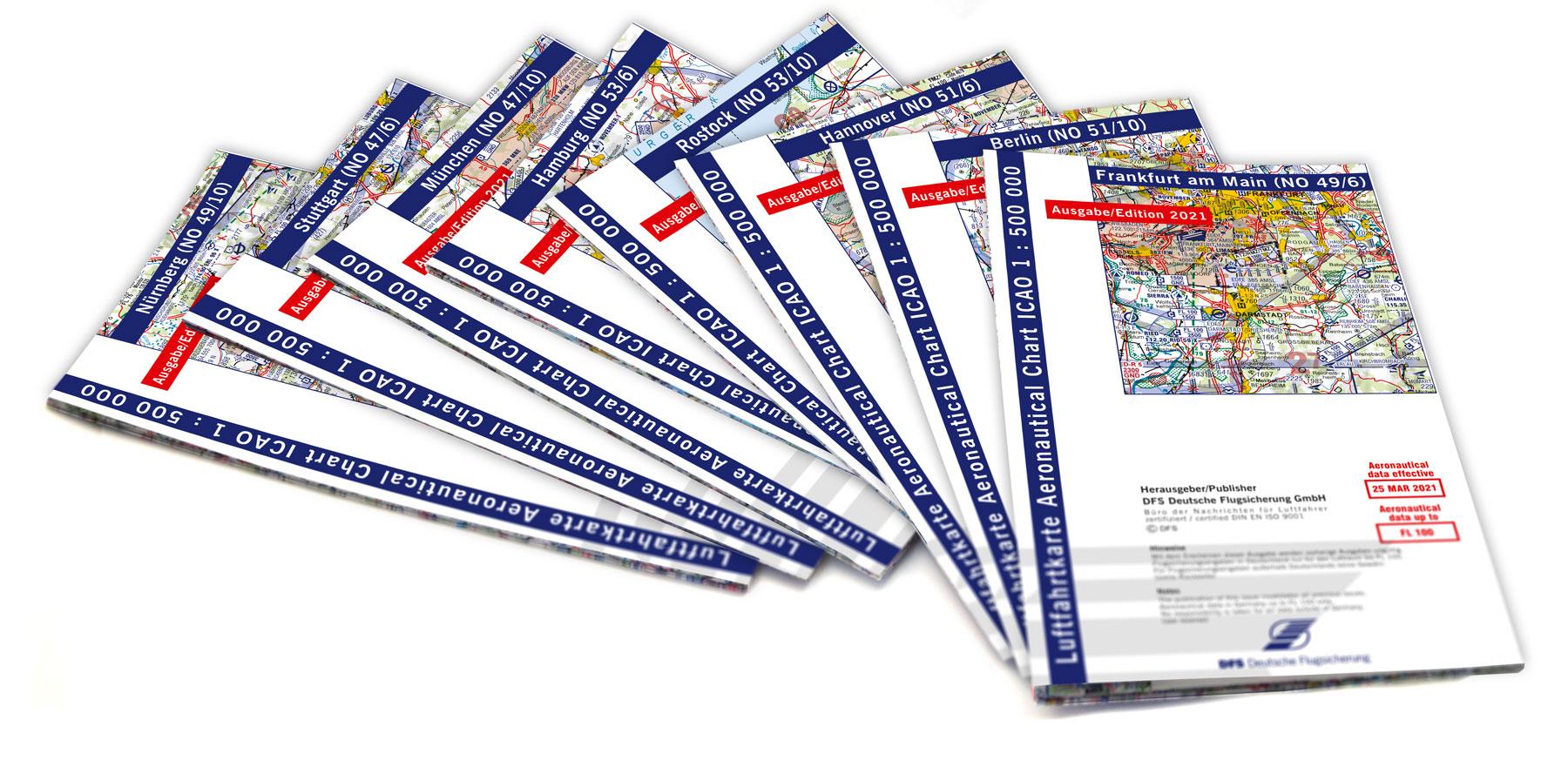 ICAO-Karten Satz 2021