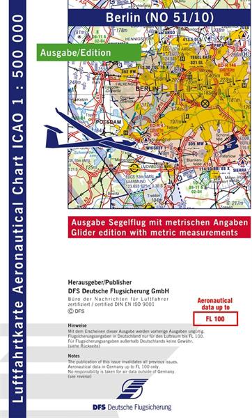 ICAO-Segelflugkarte Berlin 2021