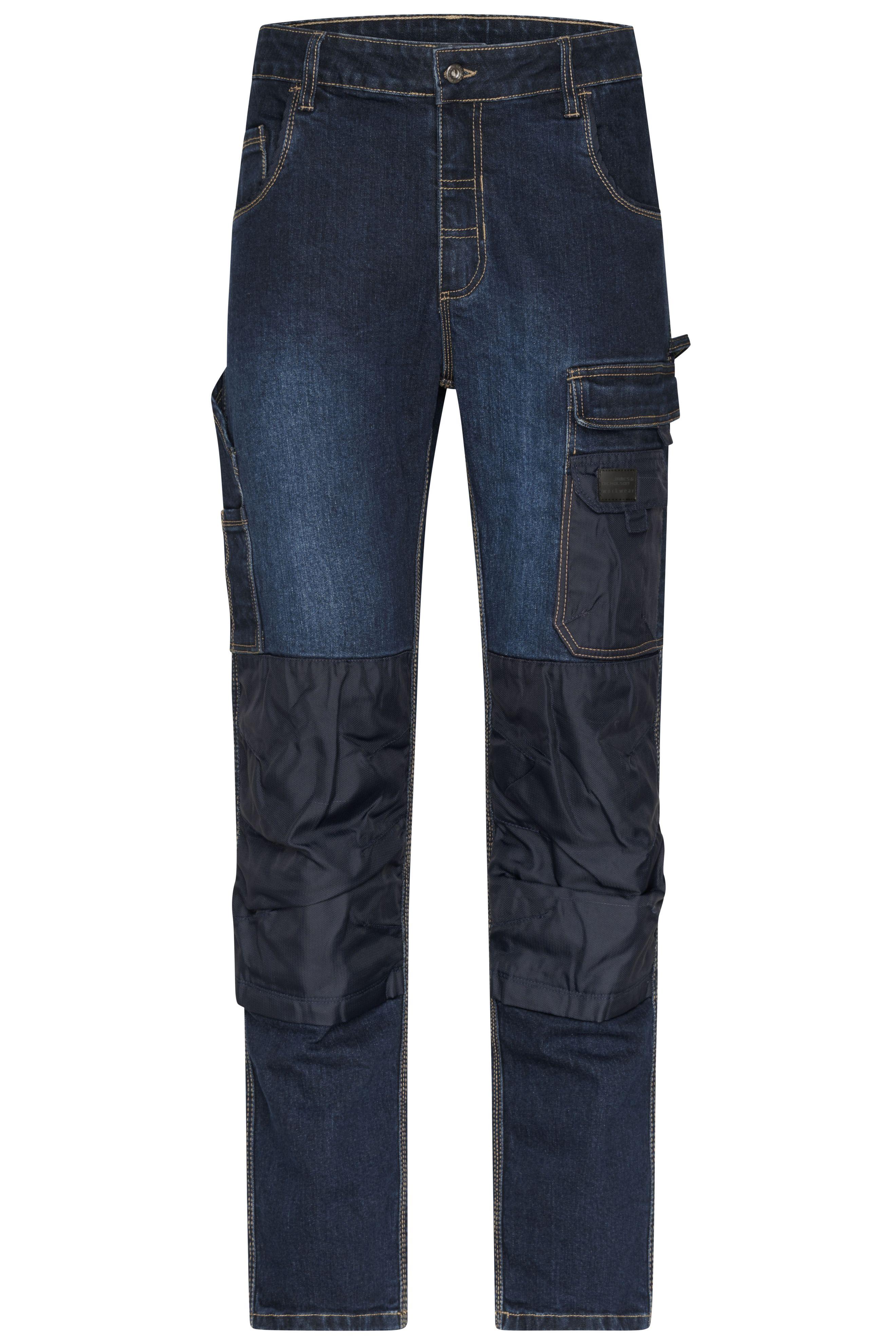 Fliegerjeans Stretch-Jeans (blue-denim)