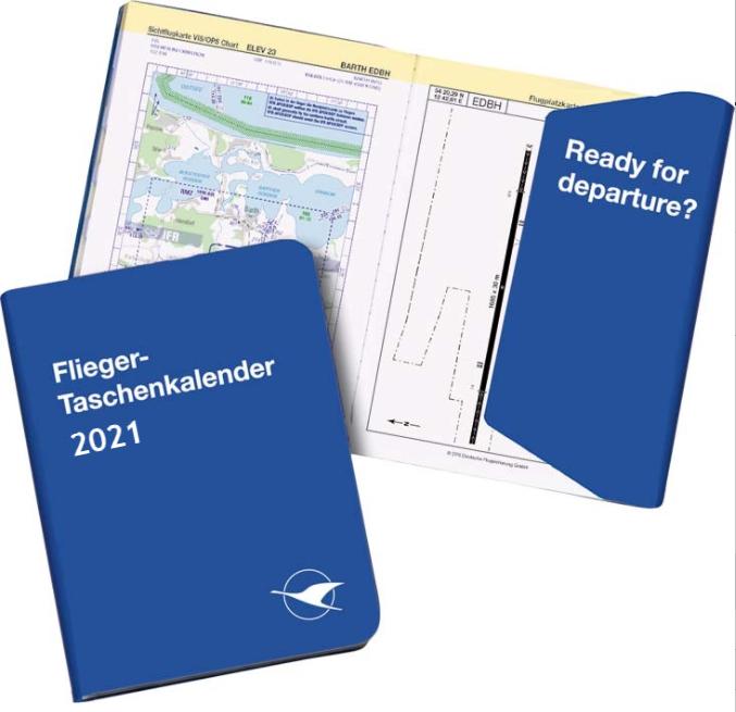 Flieger Taschenkalender 2021 sofort lieferbar