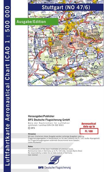 ICAO-Karte Stuttgart 2021