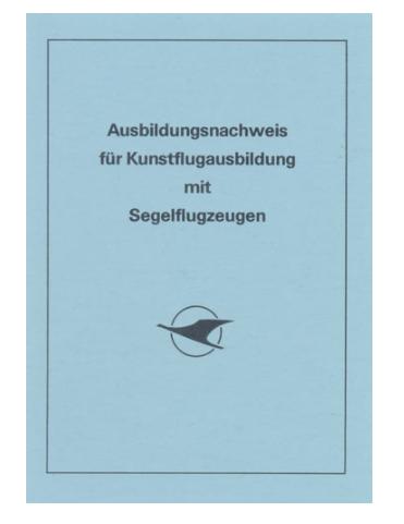 Ausbildungsnachweis für Kunstflug in Segelfluzeugen
