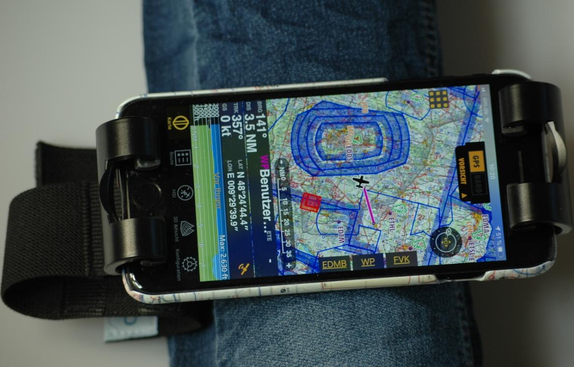 MyClip Universal iPAD/iPHONE/Smartphone Halterung mit Klettverschluss