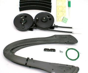 BWS Mückenputzer Basic Set (Handkurbel) mit Flexi-Putzer unten angelenkt