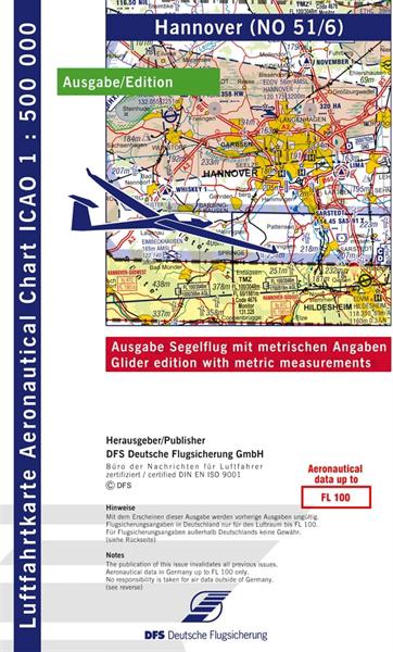 ICAO-Segelflugkarte Hannover 2021 Lieferbar ab KW 13