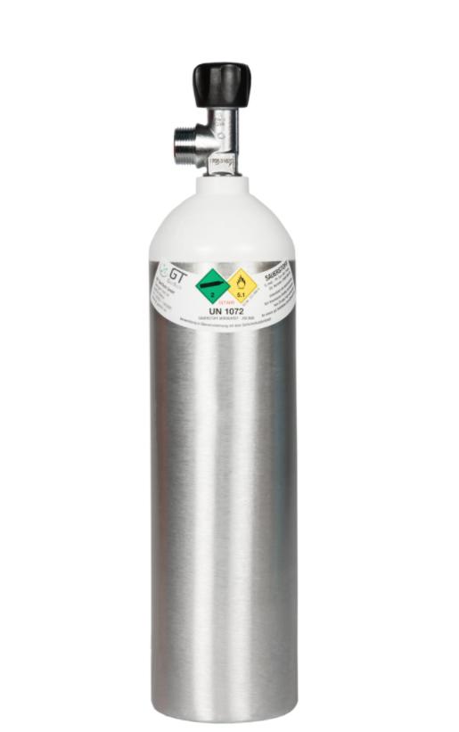 Alu-Sauerstoffflasche 2 Liter