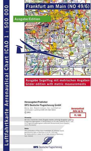 ICAO-Segelflugkarte Frankfurt 2021 Lieferbar ab KW 13