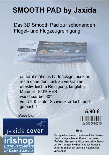 SMOOTH PAD 3D Reinigungshandschuh - Made by JAXIDA