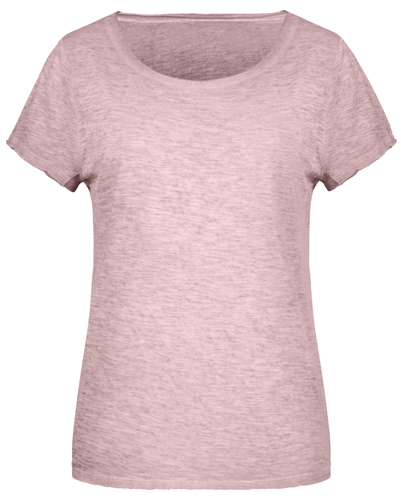 Frauen Slub-T-Shirt-Grün-M