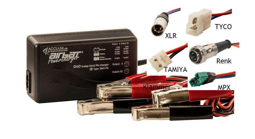AIRBATT Powercharger 2641 DUO-Ladegerät 12 V 2,0 A - PB