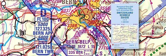 ICAO-Luftfahrerkarte Blatt Schweiz  Ausgabe 2020